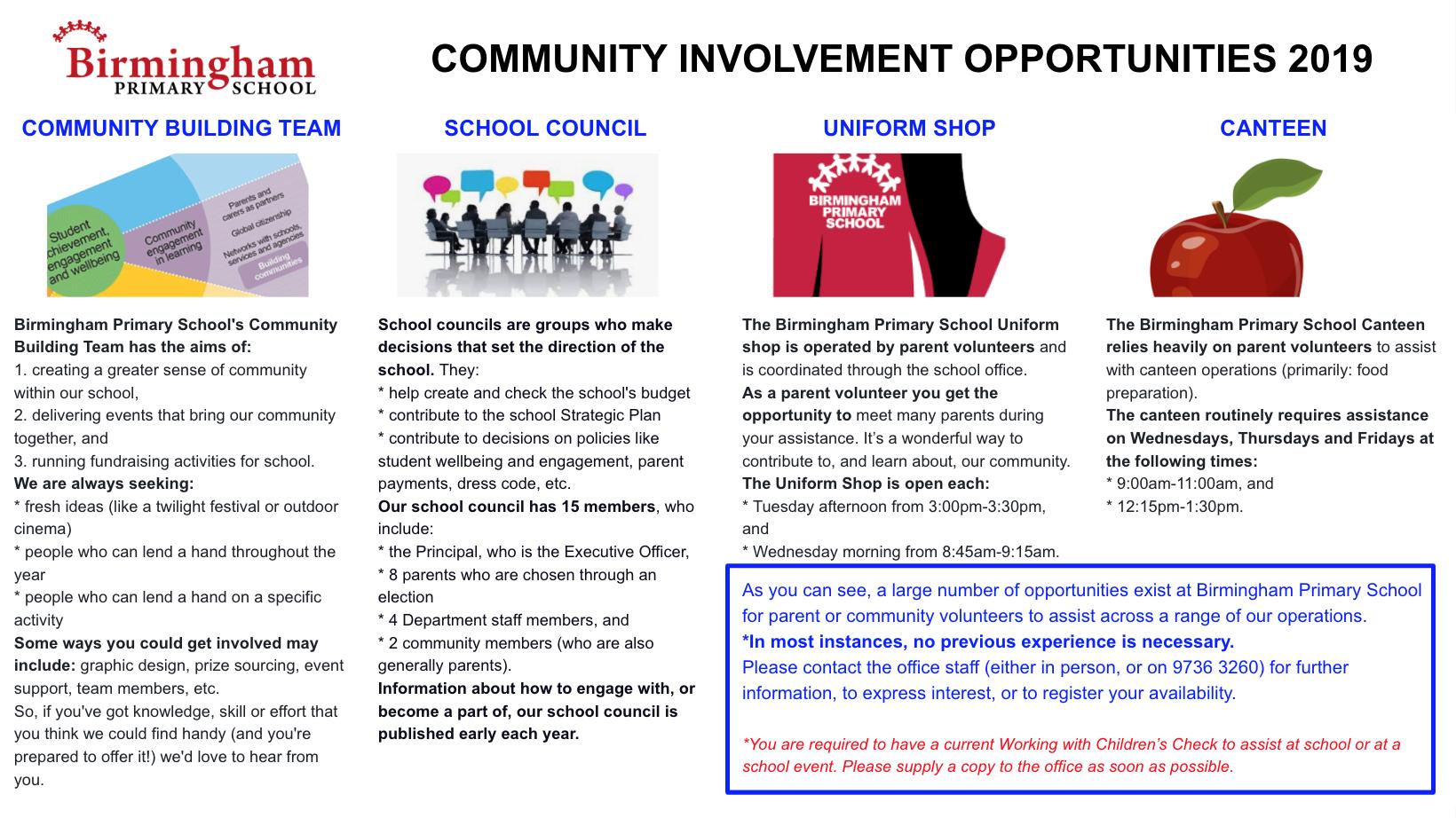 Current Families | Birmingham Primary School | Mt Evelyn